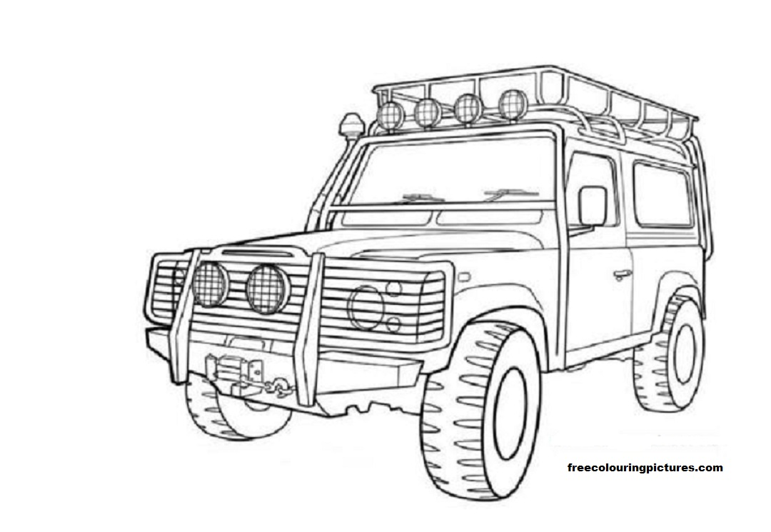 4x4 145971 Transportation Printable Coloring Pages