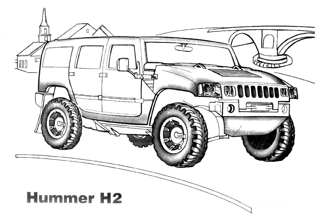 4x4 145993 Transportation Printable Coloring Pages