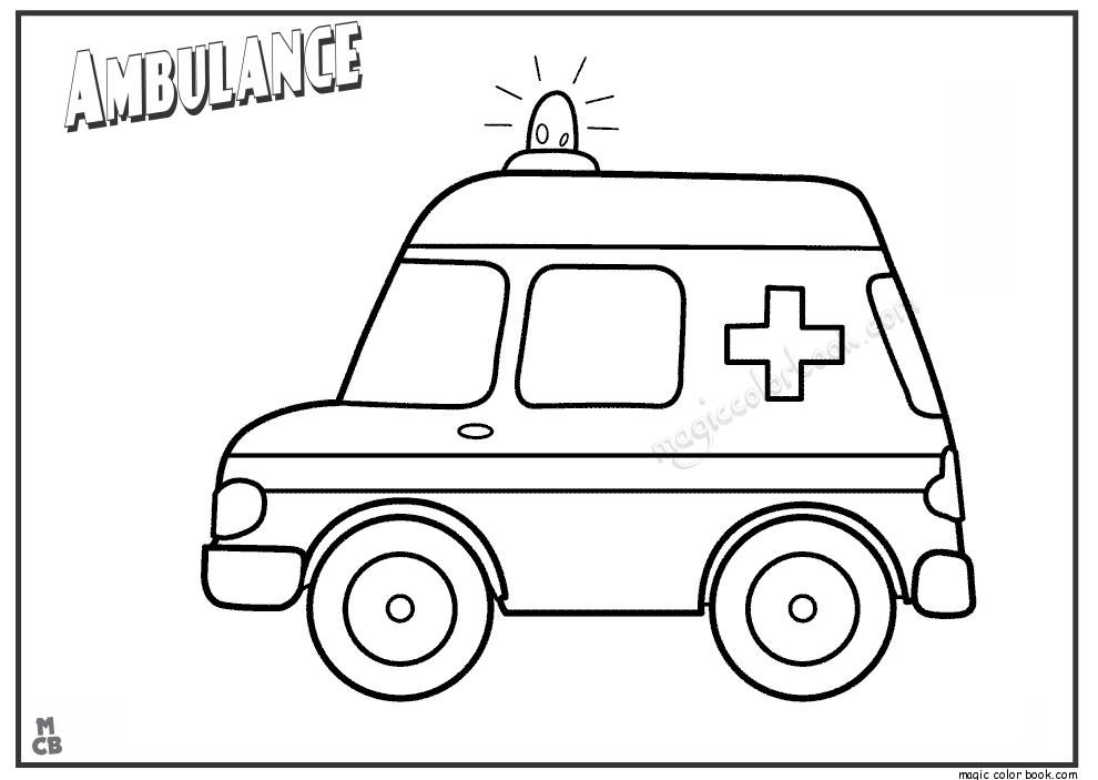 Ambulance 136798 Transportation Printable Coloring Pages