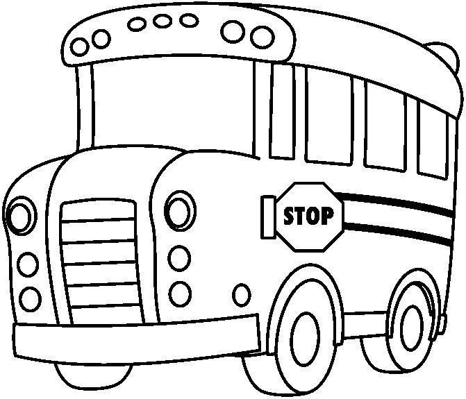 bus 135388 transportation  printable coloring pages