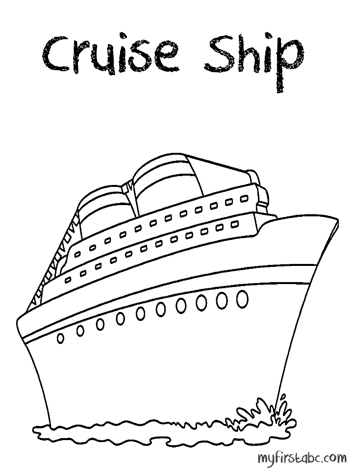 Cruise Ship Paquebot 140784 Transportation Printable Coloring Pages