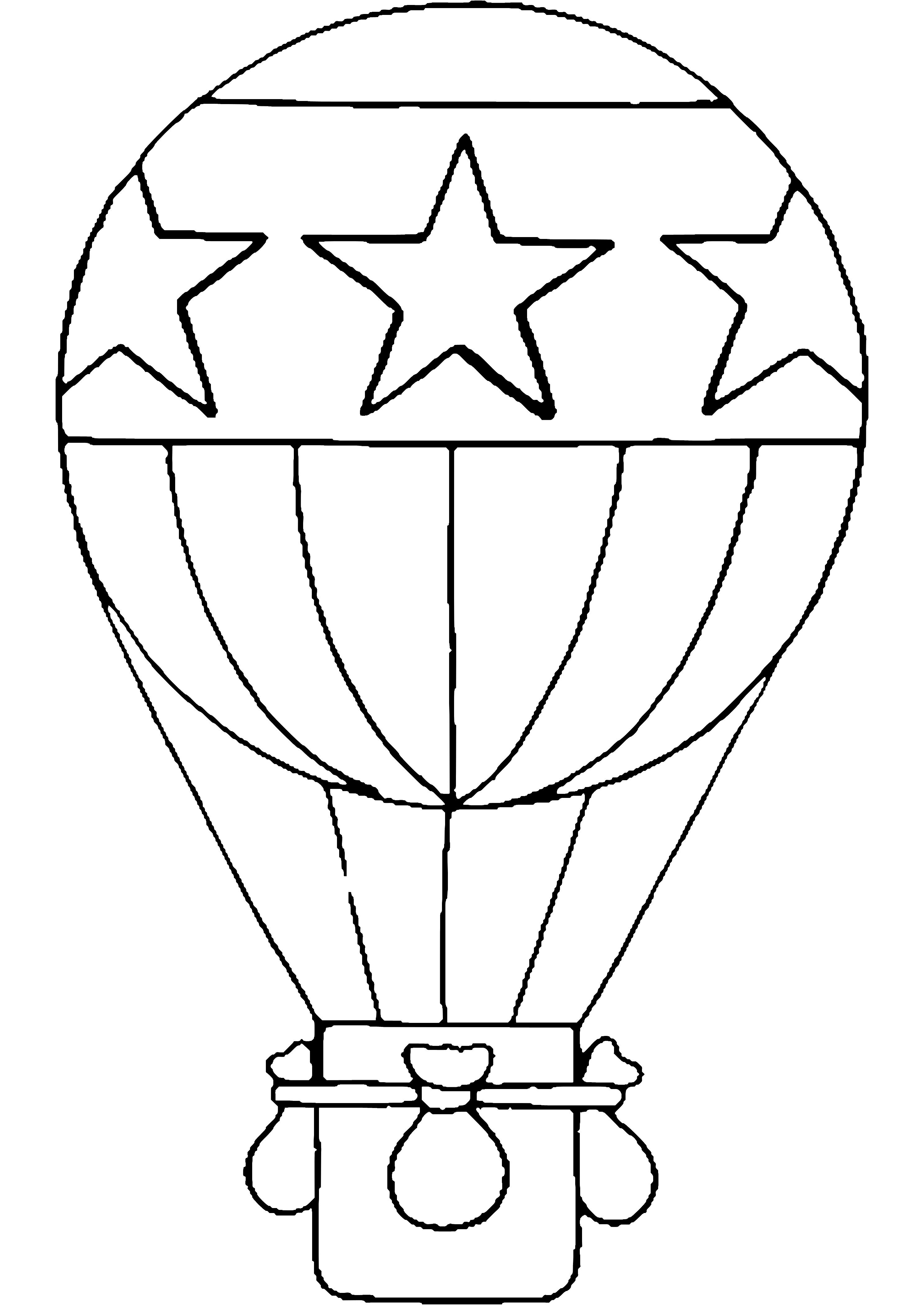 Hot Air Balloon Transportation Printable Coloring Pages