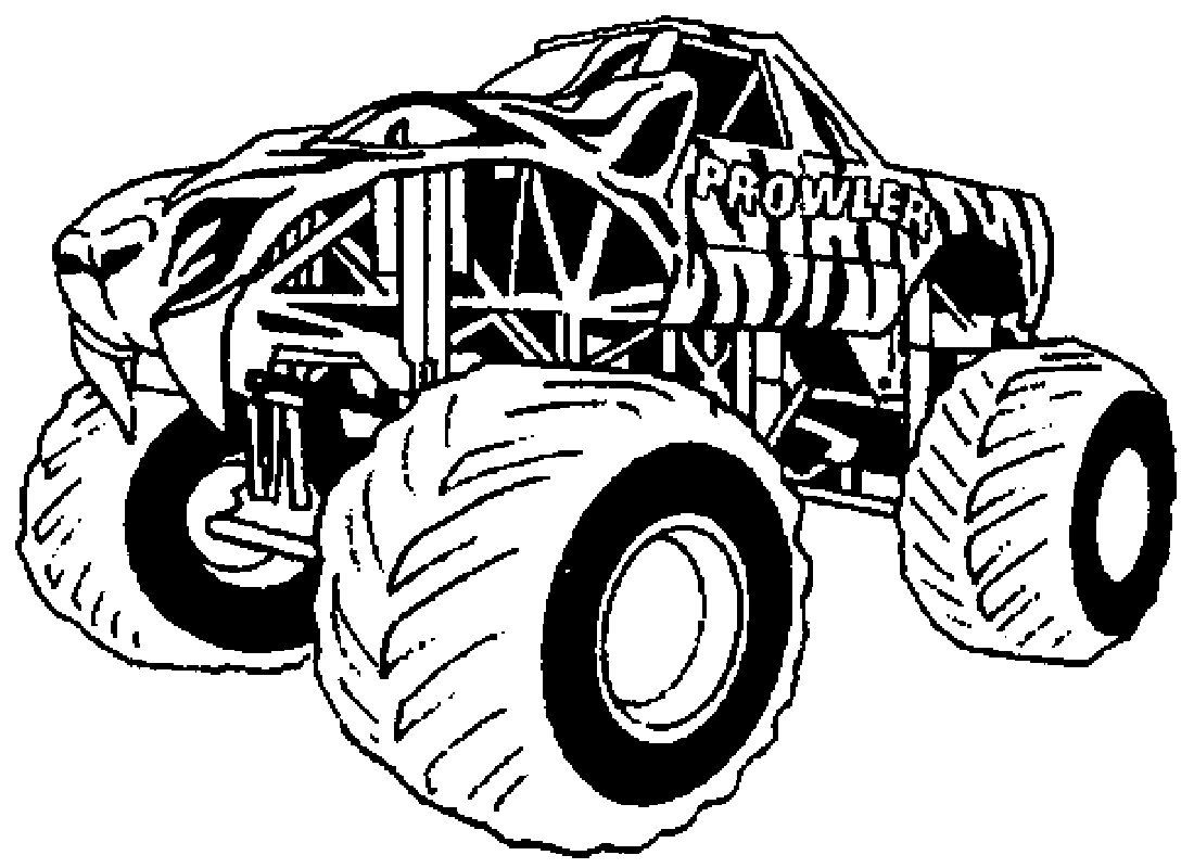 Monster Truck 141284 Transportation Printable Coloring Pages