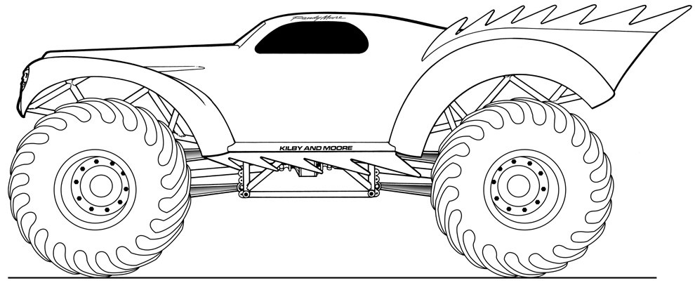 Monster Truck (Transportation) - Printable coloring pages