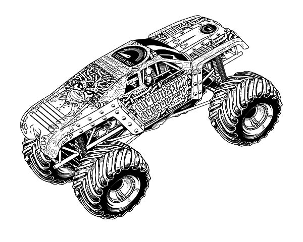 Monster Truck 141403 Transportation Printable Coloring Pages