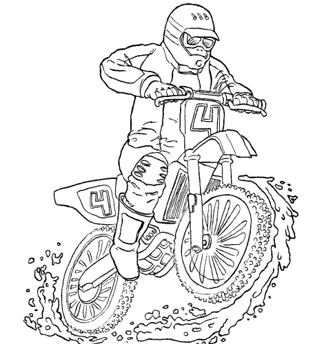 Motocross Transportation Printable Coloring Pages