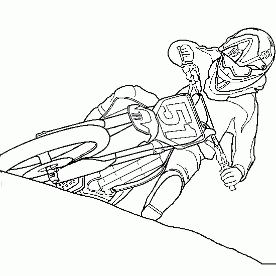- Motocross #136511 (Transportation) – Printable Coloring Pages
