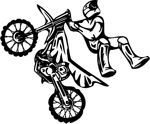 Motocross #136680 (Transportation) – Printable Coloring Pages