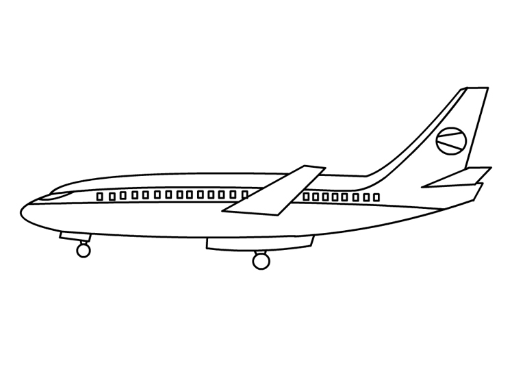 - Plane #134785 (Transportation) – Printable Coloring Pages