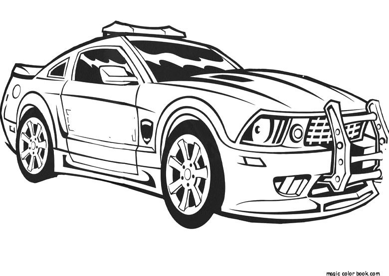 - Police Car #142969 (Transportation) – Printable Coloring Pages