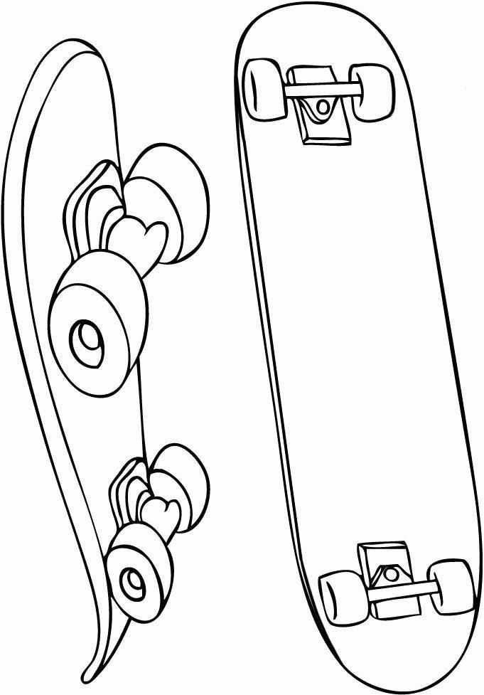 Skateboard 139291 Transportation Printable Coloring Pages