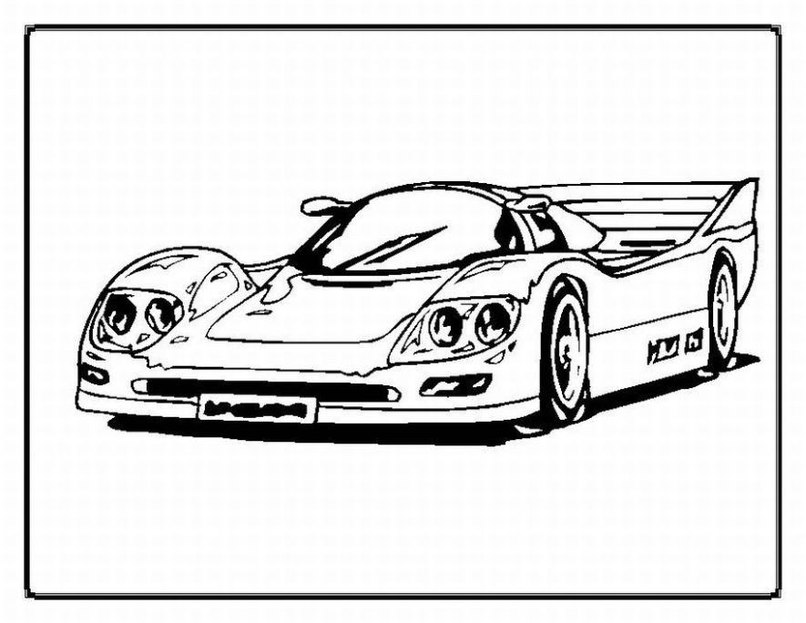 - Sports Car / Tuning #146922 (Transportation) – Printable Coloring Pages