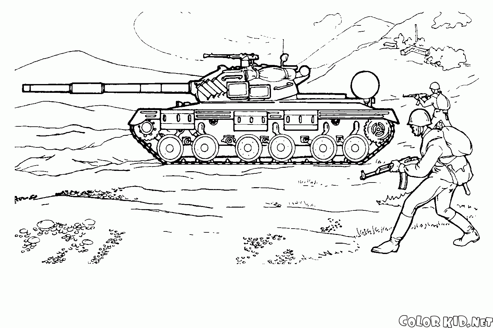 Tank 138037 Transportation Printable Coloring Pages