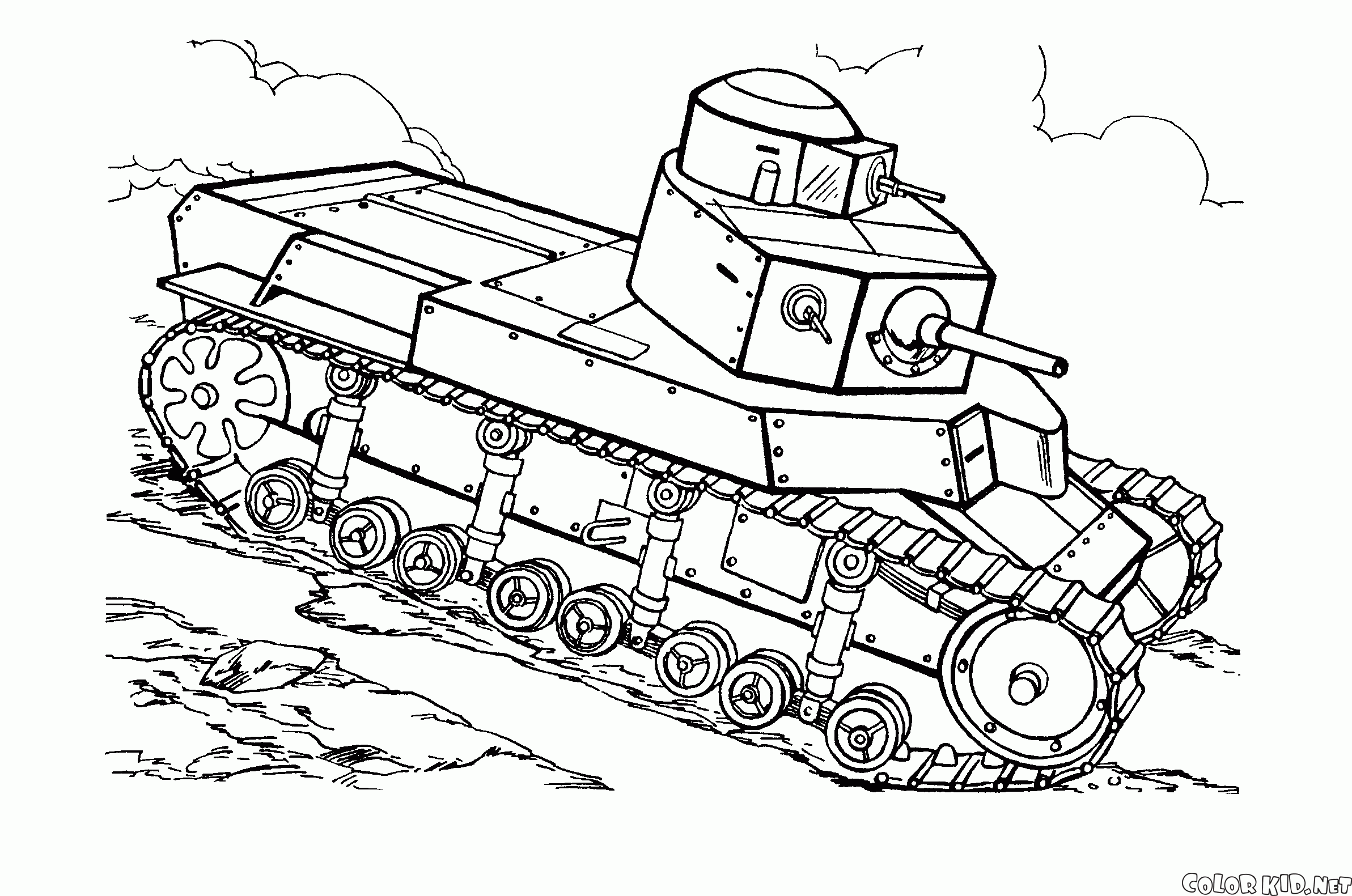 Tank #138063 (Transportation) - Printable coloring pages