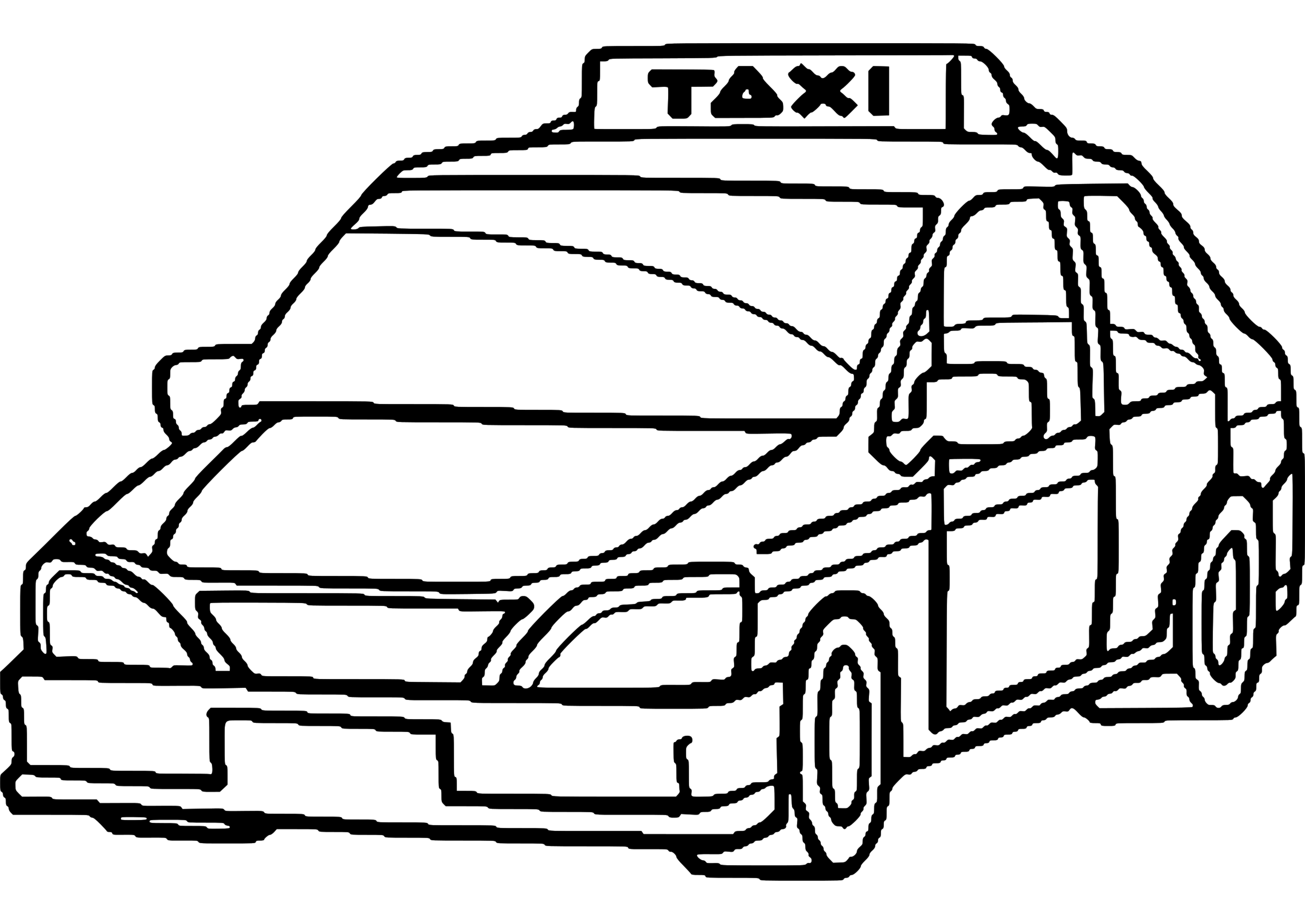 Taxi 32 Transportation – Printable coloring pages