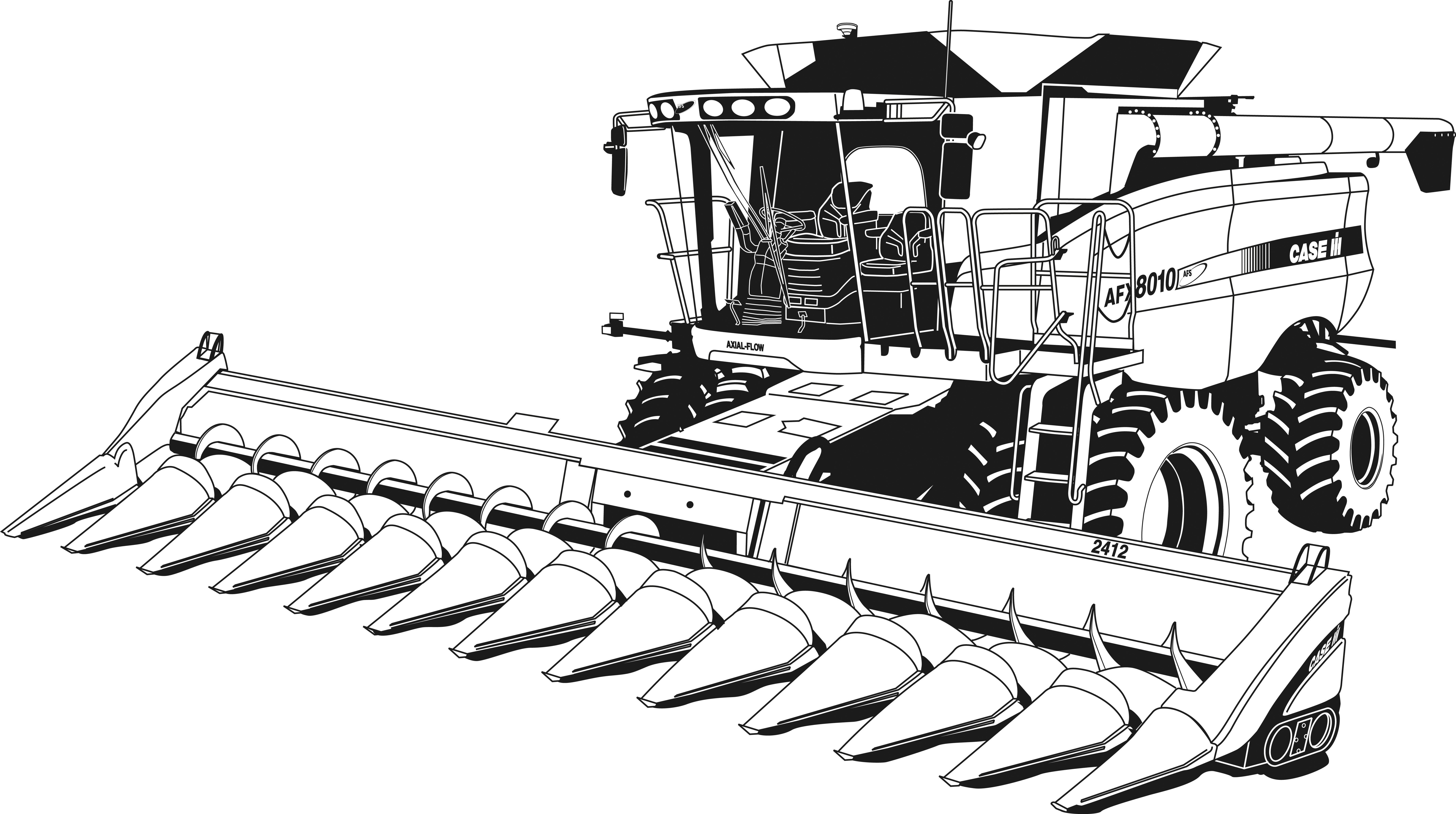 Tractor Transportation Printable Coloring Pages