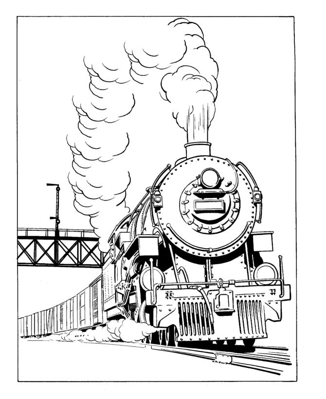 Train / Locomotive #135088 (Transportation) - Printable ...
