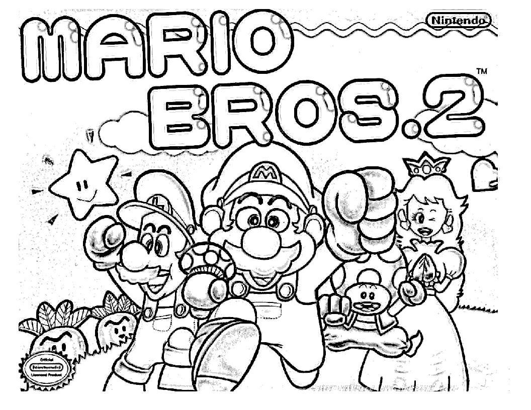 Mario Bros (Video Games) - Printable coloring pages