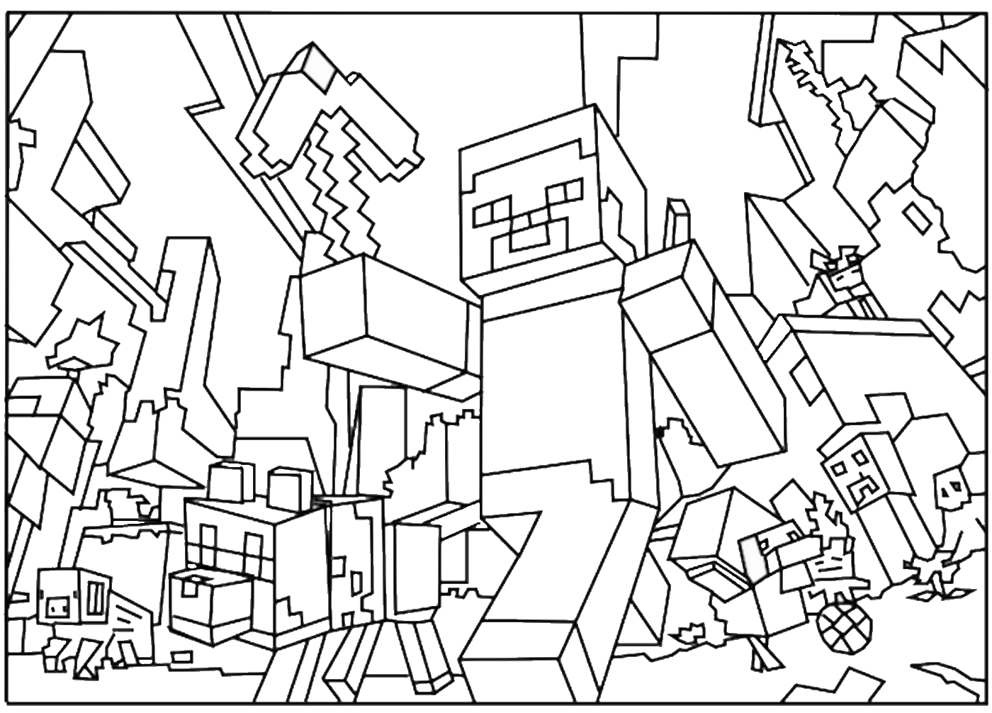 Video Games Printable Coloring Pages
