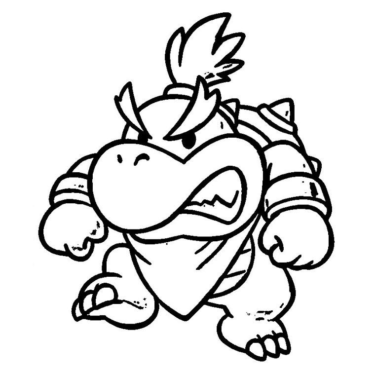 Super Mario Bros 153728 Video Games Printable Coloring Pages