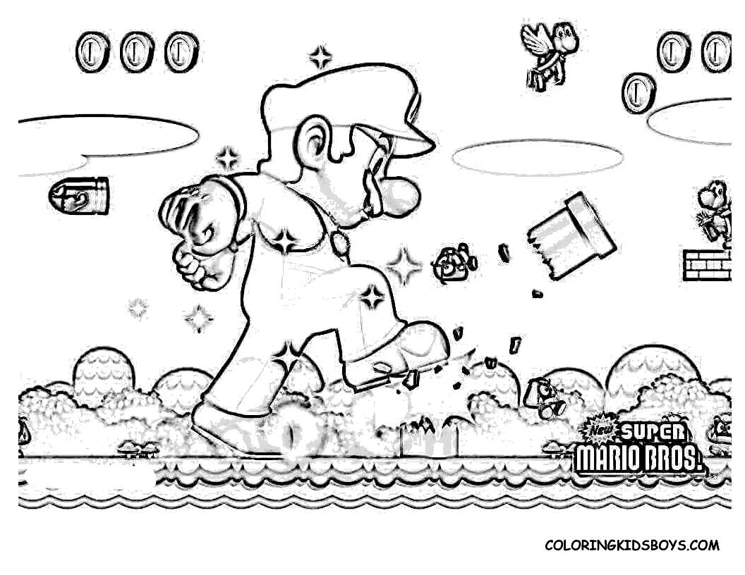 Super Mario Bros 32 Video Games – Printable coloring pages